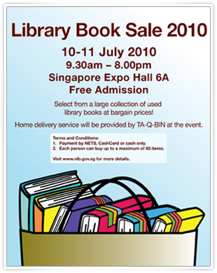 NLB Library Book Sale 2010 @ Expo: July 10-11