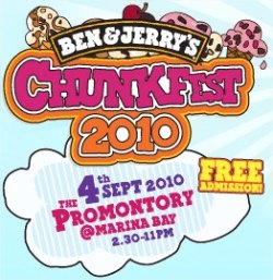 Ben &amp; Jerry Chunkfest 2010: Sep 4 Promontory @ Marina Bay