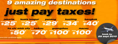 Tiger Airways: just pay taxes to 9 amazing destinations