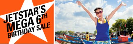 Jetstar's 6th Birthday sale: air ticket & travel package from $28 till 1 Nov 2010