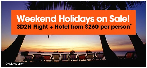 Jetstar Weekend Holiday Sale