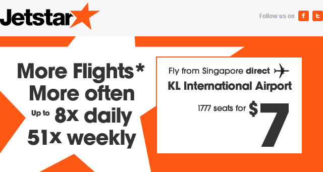 Jetstar: Fly From Singapore to KL International Airport