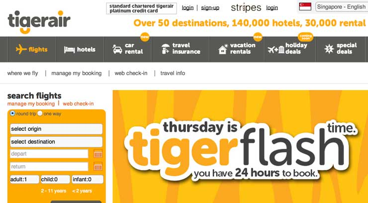 Tiger Air promotion